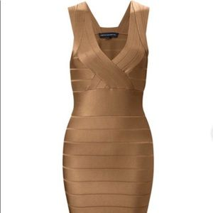 French Connection Bandage dress - Champagne / Gold